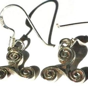 Sterling Silver Celtic Triskele Celtic Earrings