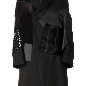 ICIKIN3 Junya Watanabe Comme Des Gar?ons stylised patchwork overcoat