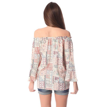 Q2 Store boho blouse with tassel