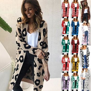 Liva Casual Cardigan Women Winter Christmas Sweater Women Deer Printed Long Sleeve Cardigan Plus Size Women Sweater
