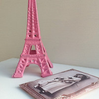 Friendsip Pink EIffel Tower - Cast Iron - Home Decor - French Decor -Pink - Paris
