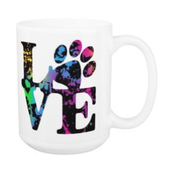 Dog Lover Mug - Love Paw Print 3P - Pet Lover - Dog Lover Gift - Cat Lover Mug - Pet Lover Gifts - Dog Coffee Mug - Cat Coffee Mug - Dog Mug