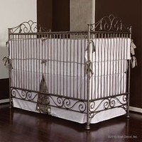 Bratt Decor Casablanca Iron Crib in Premier Pewter