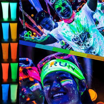 Neon Fluorescent Body Paint In The Dark Face Painting Luminous Flash Acrylic Art Glowing Paint Halloween Bachelor Party Supplies
