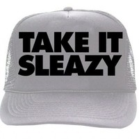 Workaholics Take It Sleazy Silver Trucker Hat