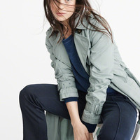 Womens Twill Trench Coat | Womens New Arrivals | Abercrombie.com