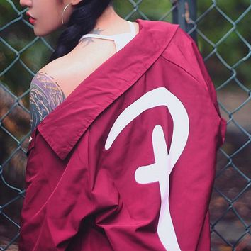 Dead flying skateboard tide retro big letters jacket men and women windbreaker street dance baseball clothing coat Red