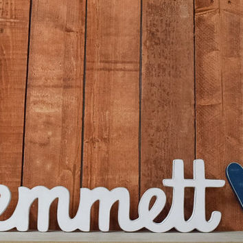 Emmett - Custom Wooden Name Sign - Nursery - Baby Name - Wedding - Shower Gift - Baby Name Sign, Kid's room decor, Nursery Nesting