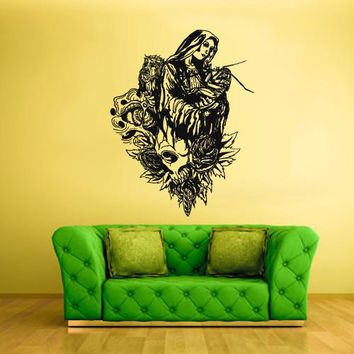Wall Vinyl Decal Sticker Bedroom Decal the Virgin Mary Jesus  z330