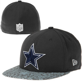 Dallas Cowboys New Era Youth 2014 NFL Draft 59FIFTY Fitted Hat - Graphite - http://www.shareasale.com/m-pr.cfm?merchantID=7124&userID=1042934&productID=547700804 / Dallas Cowboys
