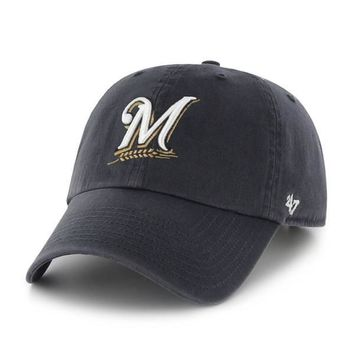 Milwaukee Brewers Clean Up Adjustable Game Dad Hat By '47 Brand