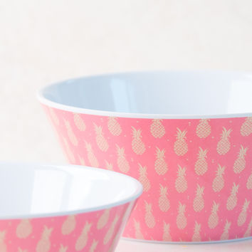 Pineapple Red Cereal Bowl Set