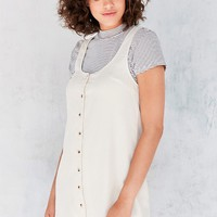 Silence   Noise Washed Tencel Button-Front Mini Dress