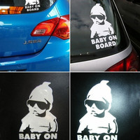 Baby on Board Vinyl Decal Waterproof Reflective Wall and Car Stickers = 1946204868