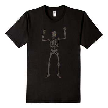Halloween Creepy Scary Skeleton T-Shirt