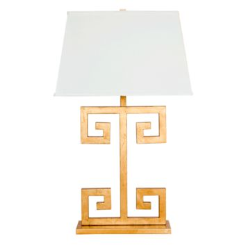 Worlds Away Clayton Gold Leaf Table Lamp