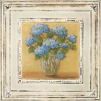 Blue Hydrangeas In Vase