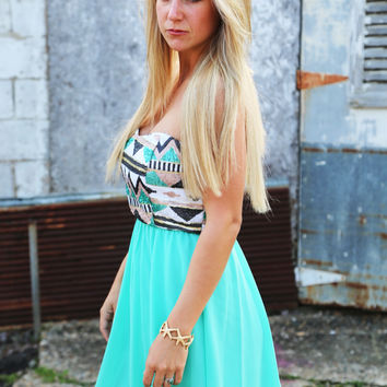 Sweet On Sequin Dress {Mint}