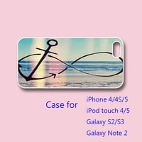 anchor infinity - iPhone 5 case, iPhone 4 case, ipod touch case , samsung galaxy s3 case , galaxy note 2 case