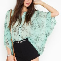 Geneva Floral Blouse in  What's New at Nasty Gal