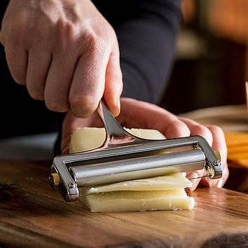 High Quatily Cheese Butter Cutter Aluminum Alloy Grater Slicer Kitchen Cheese Baking Slicing Handle Cake Planer Pastry Tool