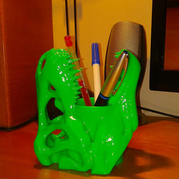 Dinosaur T-Rex Pencil Holder ( Toothbrush Holder ) Bathroom Accessories 3d printed High Quality