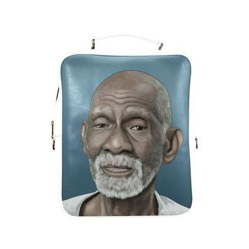 Dr Sebi Vegan Leather Square Backpack (Model 1618)