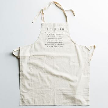 In This Home - Cotton/Linen Apron
