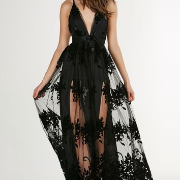 Heart Of The Night Mesh Gown