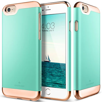 The Turquoise Mint and Gold Dual Layer Slider / Soft Interior Cover iPhone 6/6s Plus Case