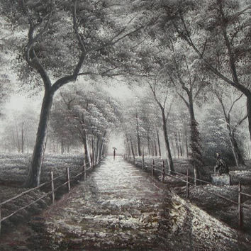 Peaceful Park Stroll Canvas Wall Art