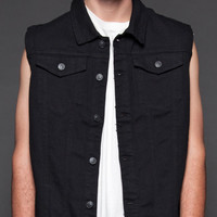 Lip Service Mens Black Denim Vest Gothic Punk Grunge Hipster Repeat Offender