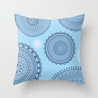 Circles pattern blue. Throw Pillow by Siret