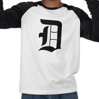 D, old english, detroit tee shirts from Zazzle.com