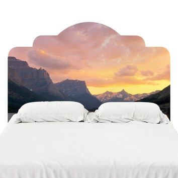 St. Mary's Lake Glacier National Park Headboard Decal