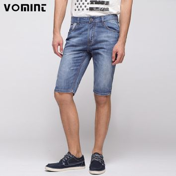 Denim Shorts Casual Distressed White Wash