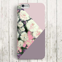 iPhone 6 Case, iPhone 6 Plus Case, iPhone 5S Case, iPhone 5 Case, iPhone 5C Case, iPhone 4S Case, iPhone 4 Case - Color Block Flowers