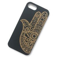 iPhone 6/6s - Hamsa Fatima Hand Wooden Phone Case