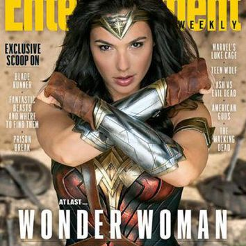 Wonder Woman Entertainment Weekly poster Metal Sign Wall Art 8inx12in