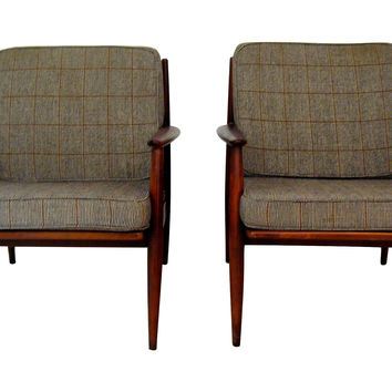 Mid-Century Modern Lounge Chairs, Pair