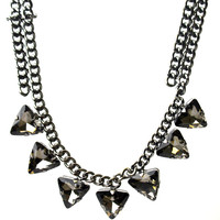 Black Ice Statement Necklace