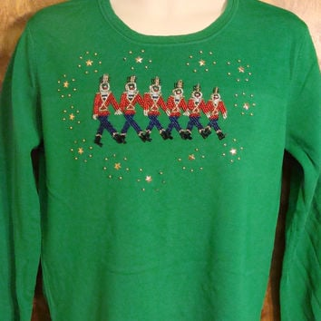 Marching Nutcrackers Bad Christmas Sweater