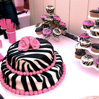 amazing, animal print, black, cake, cupcake - inspiring picture on Favim.com