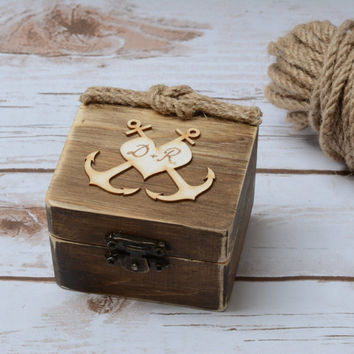 Wedding Ring Box Beach Starfish Ring Holder Wooden Ring Bearer Nautical Wedding Decoration