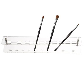 1Pc 10 Holes Detachable Acrylic Toothbrush Makeup Brush Plastic Holder Storage Display Stand