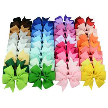 20 pcs/lot 20 color ribbon bow tie Girl Butterfly hairpin Girl Butterfly Hair Clip Hair accessories x564