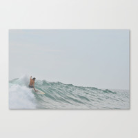 morning surf Canvas Print by RichCaspian
