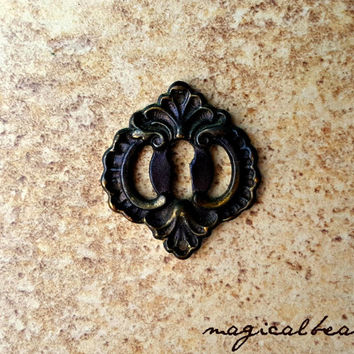 Antique Drawer Backplate KBC Dresser Hardware Escutcheon Back-Plate Brass Drawer Pulls Decorative Drawer Pulls Victorian Furniture Hardware