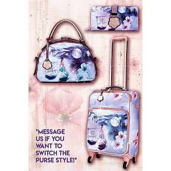 Fairytale 3PC Set | Carry on Bag with Spinner Wheels