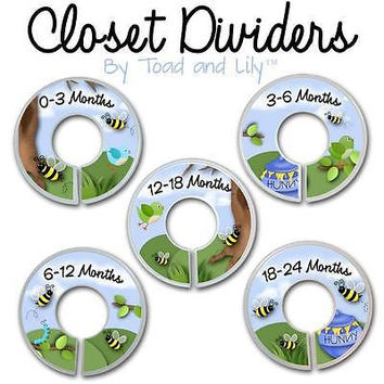 Closet Dividers In the Busy Little Honey Bees Bedroom Baby Nursery Art Decor CD0022